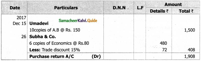Samacheer Kalvi 11th Accountancy Guide Chapter 6 Subsidiary Books – I 46