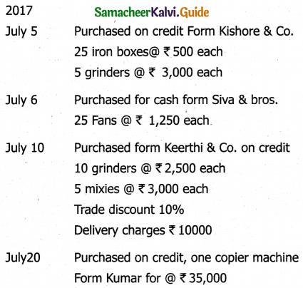 Samacheer Kalvi 11th Accountancy Guide Chapter 6 Subsidiary Books – I 50