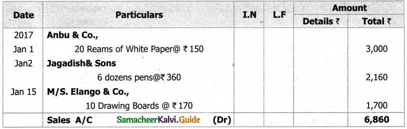 Samacheer Kalvi 11th Accountancy Guide Chapter 6 Subsidiary Books – I 6