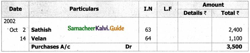 Samacheer Kalvi 11th Accountancy Guide Chapter 6 Subsidiary Books – I 72