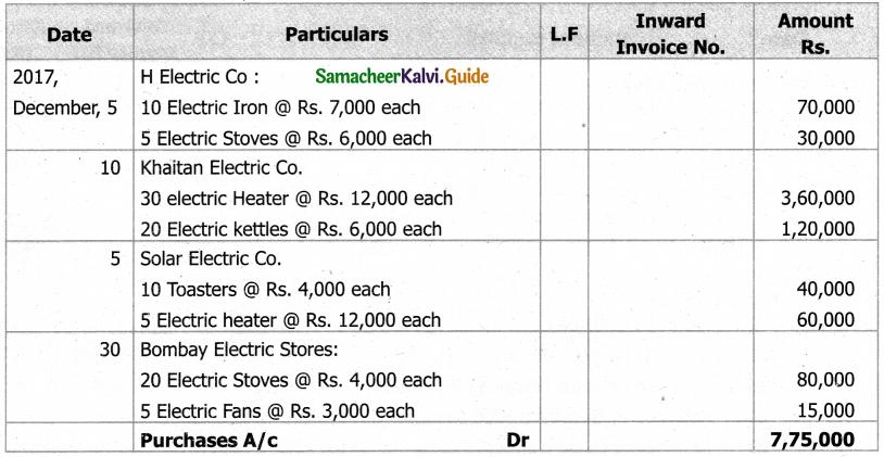 Samacheer Kalvi 11th Accountancy Guide Chapter 6 Subsidiary Books – I 79