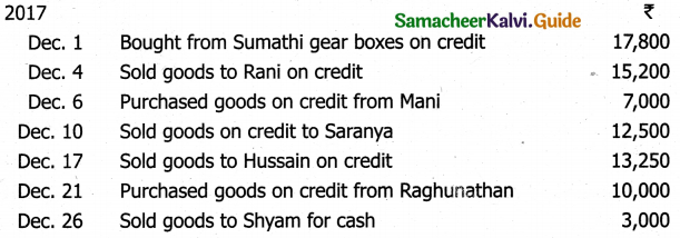Samacheer Kalvi 11th Accountancy Guide Chapter 6 Subsidiary Books – I 8