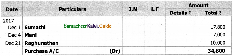 Samacheer Kalvi 11th Accountancy Guide Chapter 6 Subsidiary Books – I 9