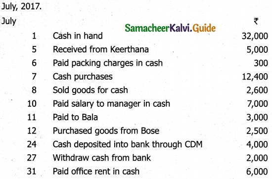 Samacheer Kalvi 11th Accountancy Guide Chapter 7 Subsidiary Books – II 8