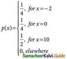 Samacheer Kalvi 12th Business Maths Guide Chapter 6 Random Variable and Mathematical Expectation Miscellaneous Problems 1