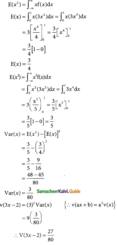 Samacheer Kalvi 12th Business Maths Guide Chapter 6 Random Variable and Mathematical Expectation Miscellaneous Problems 9