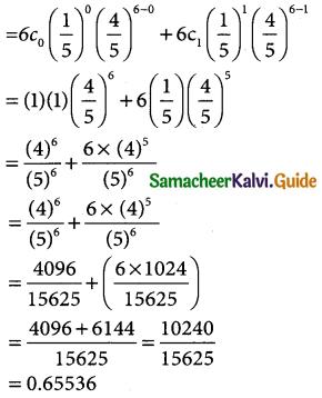 Samacheer Kalvi 12th Business Maths Guide Chapter 7 Probability Distributions Ex 7.1 12