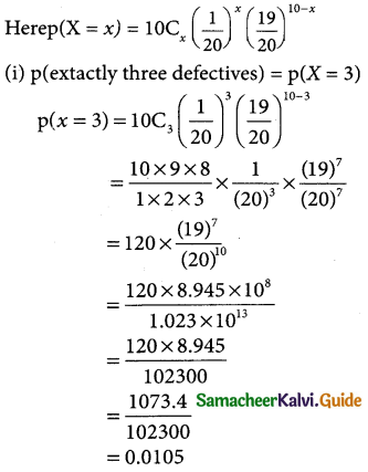 Samacheer Kalvi 12th Business Maths Guide Chapter 7 Probability Distributions Ex 7.1 5