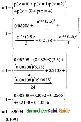 Samacheer Kalvi 12th Business Maths Guide Chapter 7 Probability Distributions Ex 7.2 6