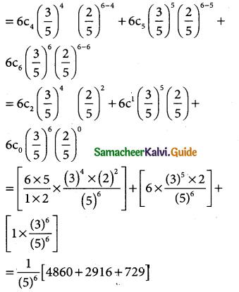 Samacheer Kalvi 12th Business Maths Guide Chapter 7 Probability Distributions Ex 7.4 6