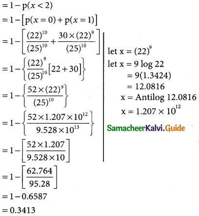 Samacheer Kalvi 12th Business Maths Guide Chapter 7 Probability Distributions Miscellaneous Problems 2
