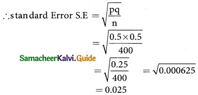 Samacheer Kalvi 12th Business Maths Guide Chapter 8 Sampling Techniques and Statistical Inference Ex 8.1 3