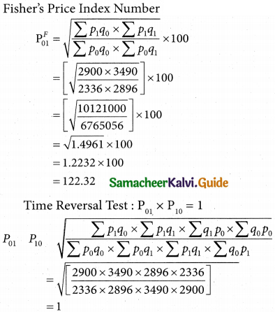 Samacheer Kalvi 12th Business Maths Guide Chapter 9 Applied Statistics Ex 9.2 16