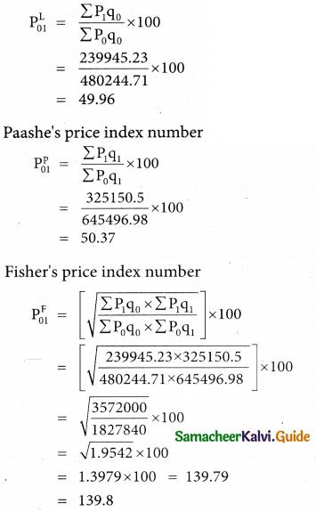 Samacheer Kalvi 12th Business Maths Guide Chapter 9 Applied Statistics Miscellaneous Problems 9