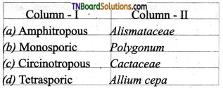 TN Board 12th Bio Botany Important Questions Chapter 1 Asexual and Sexual Reproduction in Plants 8