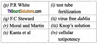 TN Board 12th Bio Botany Important Questions Chapter 5 Plant Tissue Culture 3