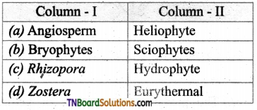 TN Board 12th Bio Botany Important Questions Chapter 6 Principles of Ecology 8