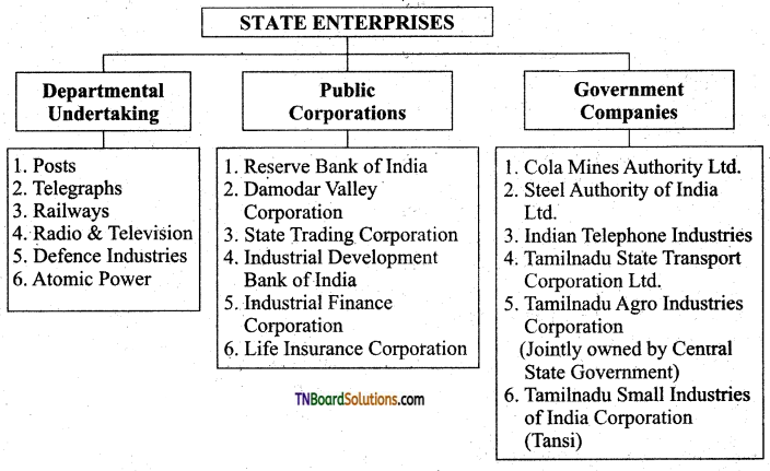 TN Board 11th Commerce Important Questions Chapter 9 Government Organisation 1