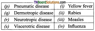 TN Board 12th Bio Zoology Important Questions Chapter 7 Human Health and Diseases 8