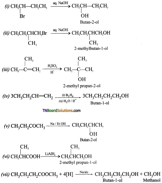 TN Board 12th Chemistry Important Questions Chapter 11 Hydroxy Compounds and Ethers 10