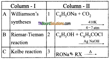 TN Board 12th Chemistry Important Questions Chapter 11 Hydroxy Compounds and Ethers 113