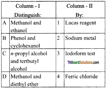 TN Board 12th Chemistry Important Questions Chapter 11 Hydroxy Compounds and Ethers 116