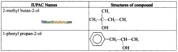 TN Board 12th Chemistry Important Questions Chapter 11 Hydroxy Compounds and Ethers 6