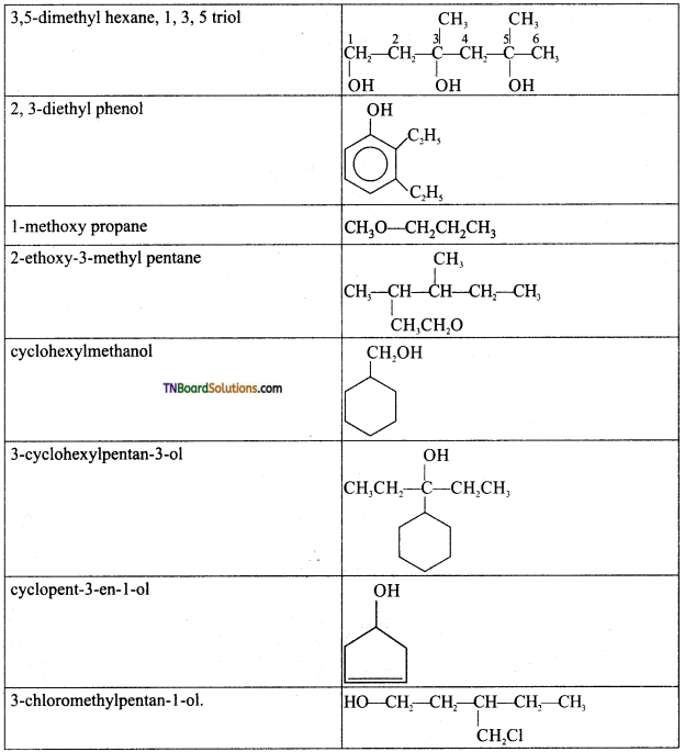 TN Board 12th Chemistry Important Questions Chapter 11 Hydroxy Compounds and Ethers 7