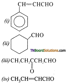 TN Board 12th Chemistry Important Questions Chapter 12 Carbonyl Compounds and Carboxylic Acids 1
