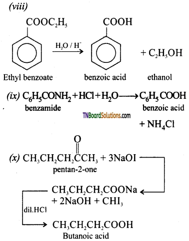 TN Board 12th Chemistry Important Questions Chapter 12 Carbonyl Compounds and Carboxylic Acids 113