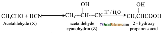 TN Board 12th Chemistry Important Questions Chapter 12 Carbonyl Compounds and Carboxylic Acids 191