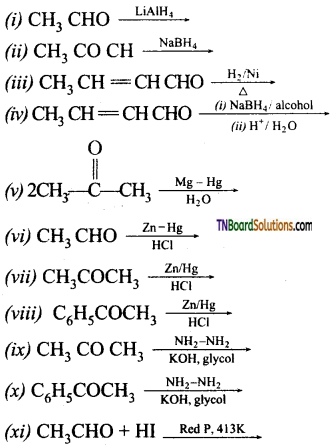 TN Board 12th Chemistry Important Questions Chapter 12 Carbonyl Compounds and Carboxylic Acids 74