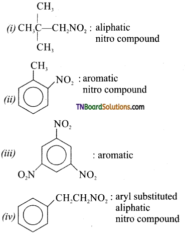 TN Board 12th Chemistry Important Questions Chapter 13 Organic Nitrogen Compounds 1