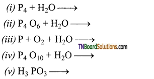 TN Board 12th Chemistry Important Questions Chapter 3 p-Block Elements – II 63