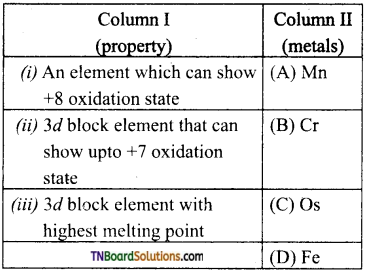TN Board 12th Chemistry Important Questions Chapter 4 Transition and Inner Transition Elements 48
