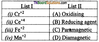 TN Board 12th Chemistry Important Questions Chapter 4 Transition and Inner Transition Elements 52