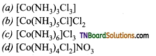 TN Board 12th Chemistry Important Questions Chapter 5 Coordination Chemistry 100