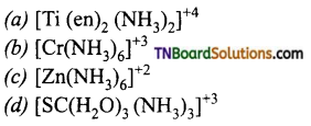 TN Board 12th Chemistry Important Questions Chapter 5 Coordination Chemistry 110