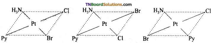 TN Board 12th Chemistry Important Questions Chapter 5 Coordination Chemistry 18
