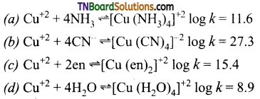 TN Board 12th Chemistry Important Questions Chapter 5 Coordination Chemistry 94