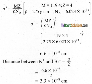 TN Board 12th Chemistry Important Questions Chapter 6 Solid State 11