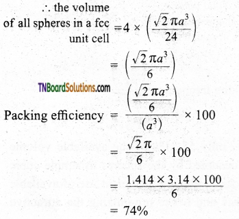 TN Board 12th Chemistry Important Questions Chapter 6 Solid State 17
