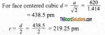 TN Board 12th Chemistry Important Questions Chapter 6 Solid State 19