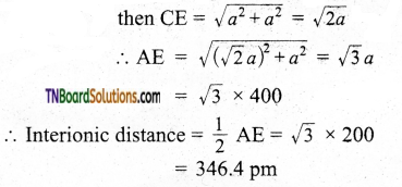 TN Board 12th Chemistry Important Questions Chapter 6 Solid State 21