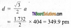 TN Board 12th Chemistry Important Questions Chapter 6 Solid State 24
