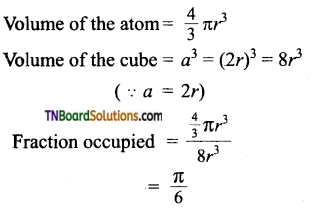 TN Board 12th Chemistry Important Questions Chapter 6 Solid State 32