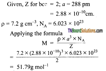 TN Board 12th Chemistry Important Questions Chapter 6 Solid State 8