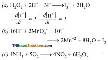 TN Board 12th Chemistry Important Questions Chapter 7 Chemical Kinetics 10