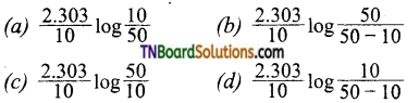 TN Board 12th Chemistry Important Questions Chapter 7 Chemical Kinetics 107