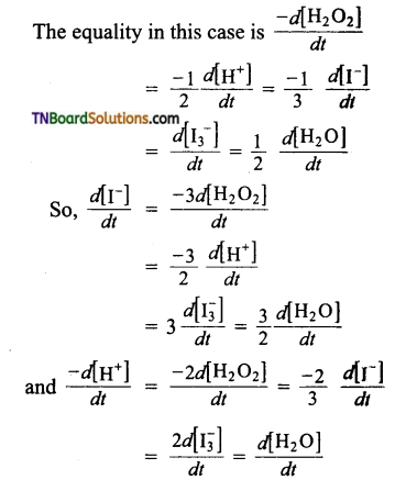 TN Board 12th Chemistry Important Questions Chapter 7 Chemical Kinetics 11